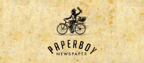 paperboy logo vintage