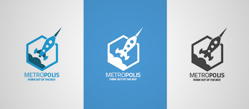 metropolis hexagon logo