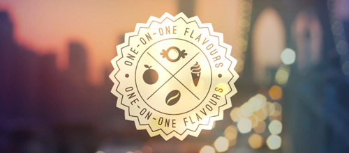 flavours vintage logo design
