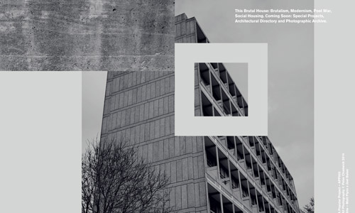 brutal house grey web design