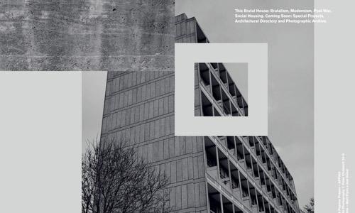 brutal house grey web design