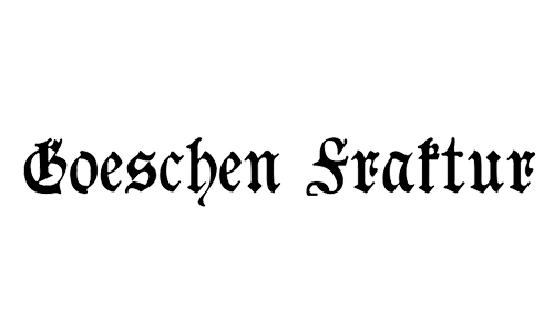 commercial blackletter font