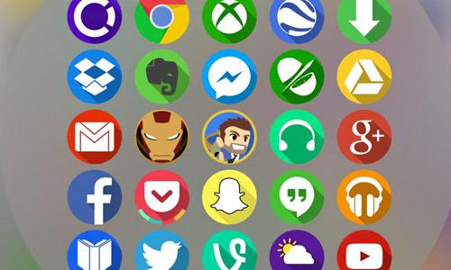 flat circle icons free