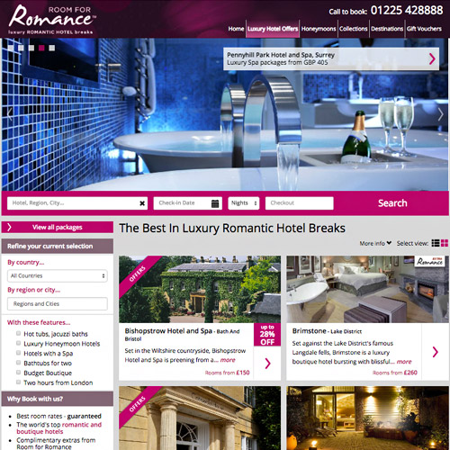 romance resort website