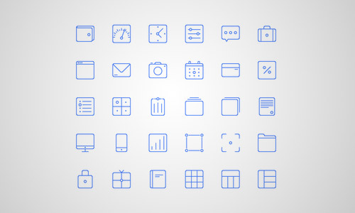 Sunday line icons