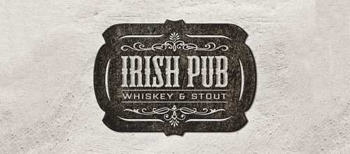 irish pub vintage logo