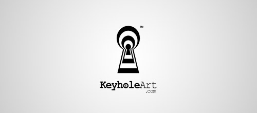 keyhole art logo