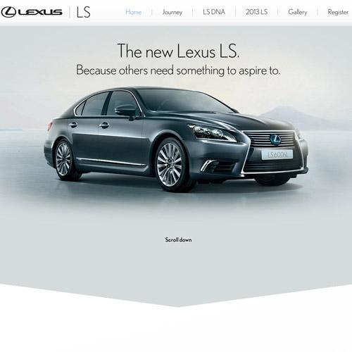 lexus parallax web design