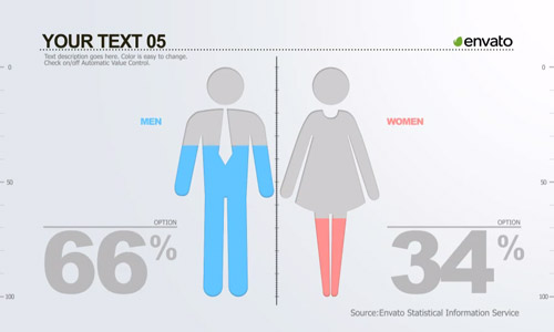 men women infographic elements