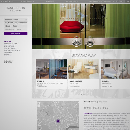 sanderson resorts website