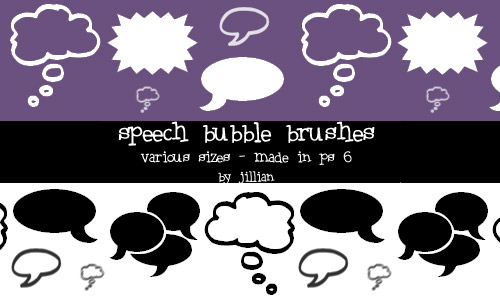 speech bubbles PS brushes