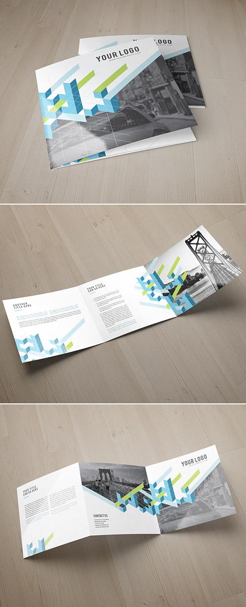 square modern brochure