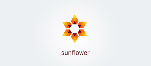 sunflower low poly loogo