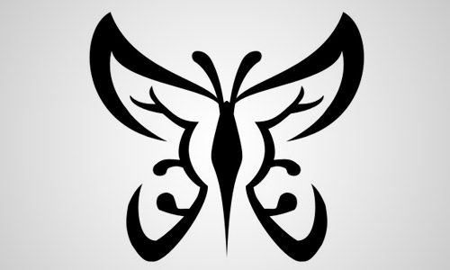 free butterfly shape photoshop
