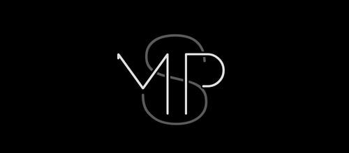 monogram thin line logo