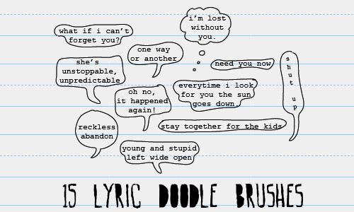 doodle speech bubbles brushes