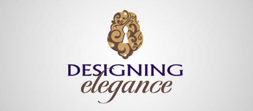 elegant keyhole logo
