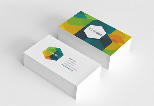 hexagonal low poly business card