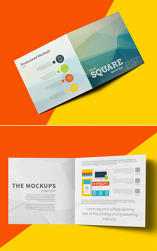 Imaginative Examples Of Square Brochure Designs  Naldz Graphics