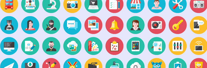 35 Free And Fresh Round Icons Designers Should Have