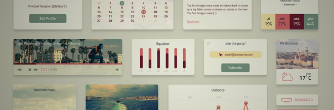 30 Freshly Made Free UI Kits for Grabs