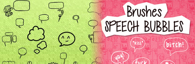 A Collection of Free Speech Bubble Brushes for Photoshop