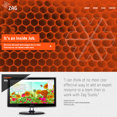 zag monochrome web design