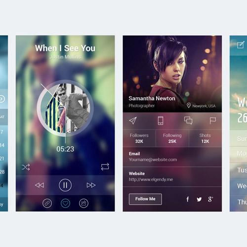 app screen ui kit