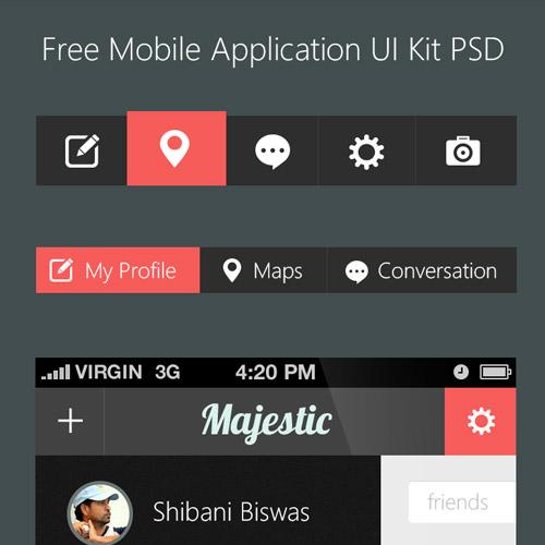 mobile application ui kit