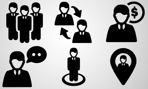 pictogram business icons