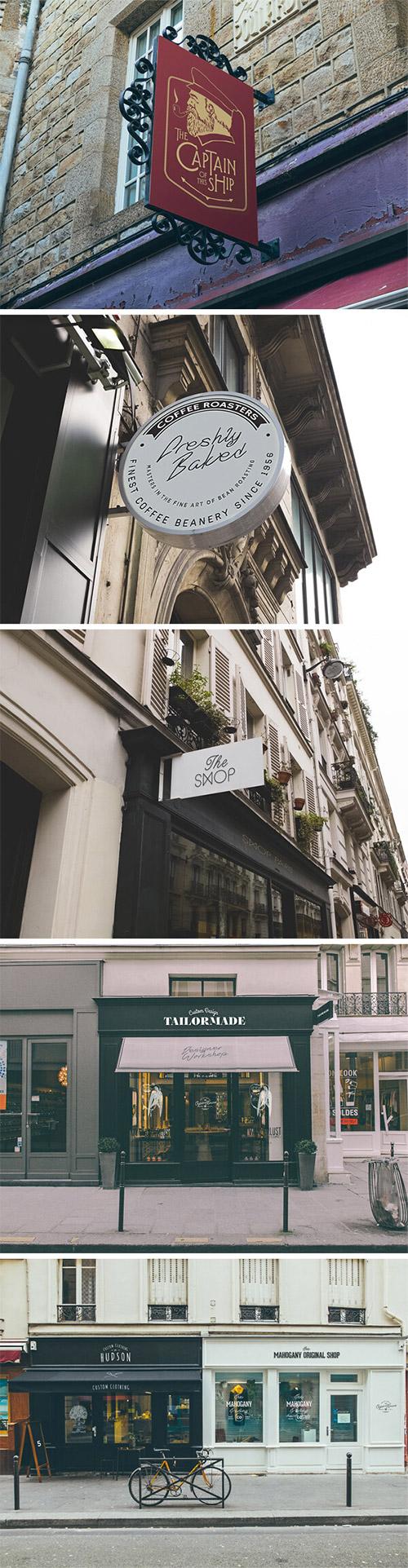 vintage facades mockups