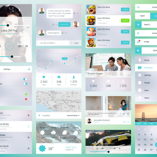 psd mobile ui kit