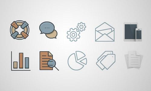 unique business icons