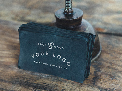 vintage business card mockup