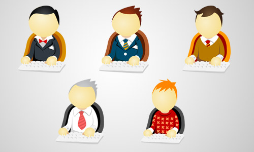 office men business icons