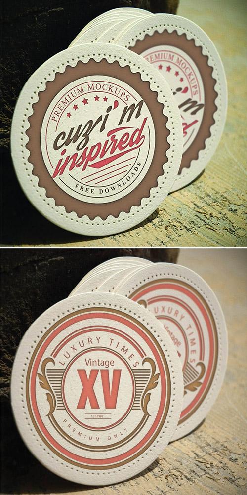 vintage emblem mockup