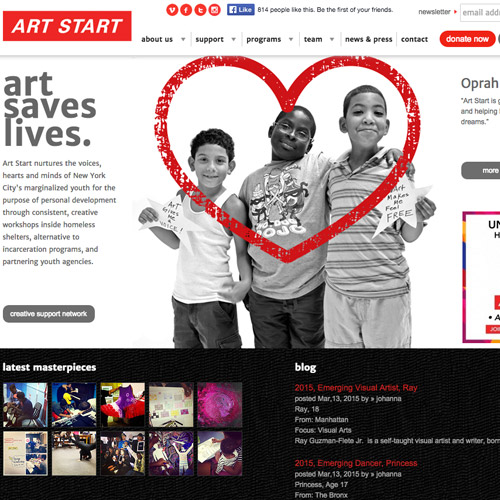 art red monochrome website