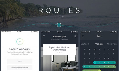 free booking app ui kit