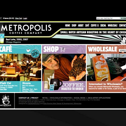metropolis coffee website