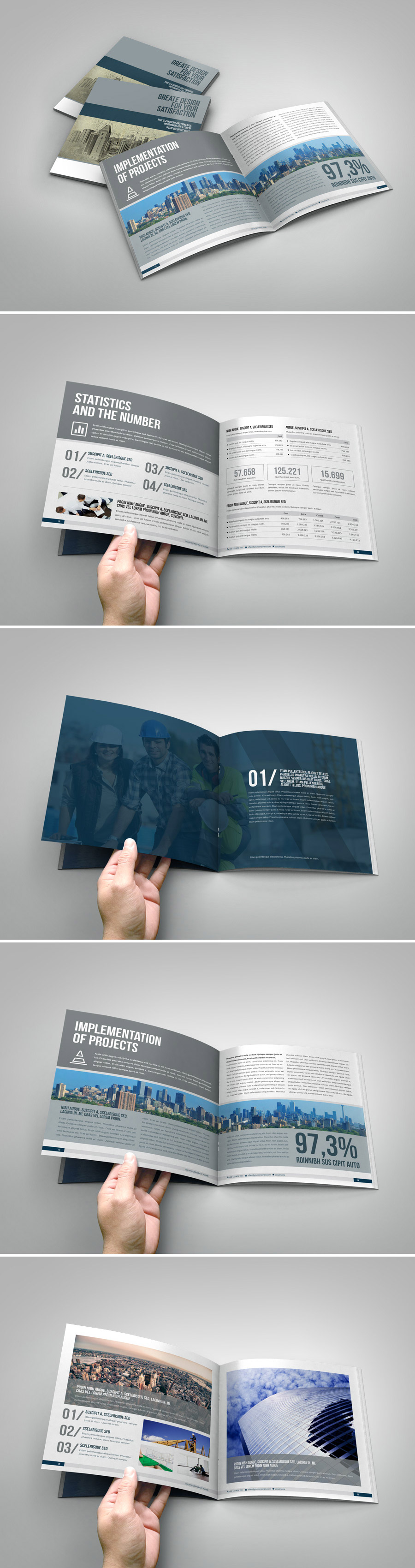 business annual report brochure