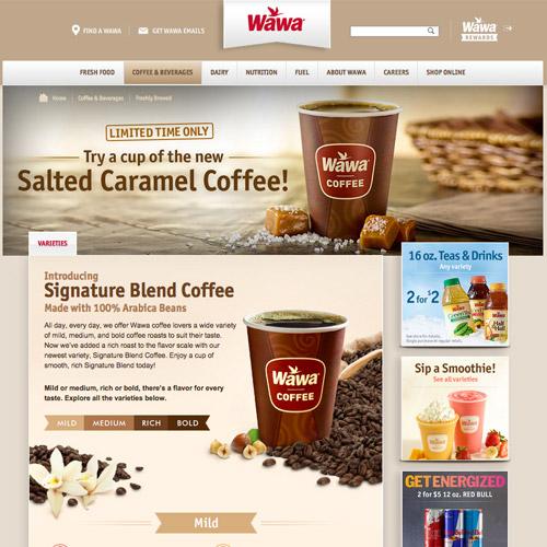 wawa coffee website