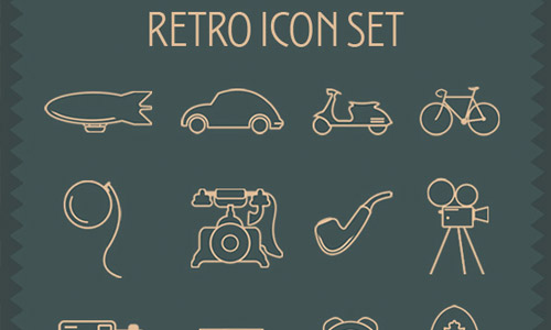 retro icon sets