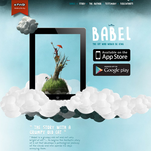 babel storytelling website