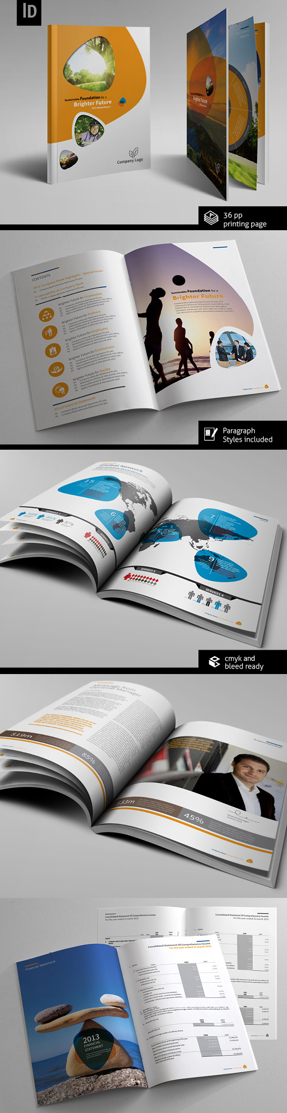 annual report design brochure