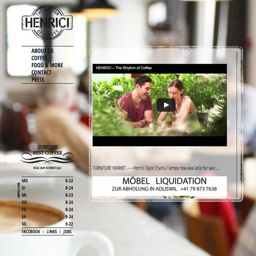henrici cafe website