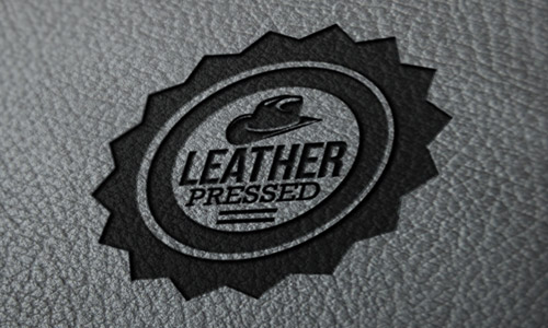 leather press