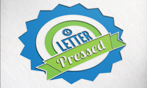 letter pressed