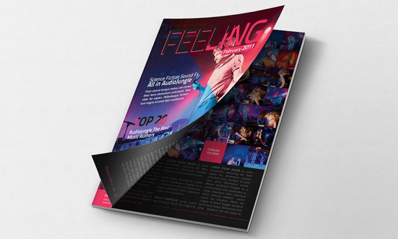 magazine mockup opening