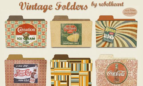 vintage folder icons