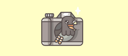 bird logo camera